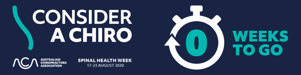 A banner image of Consider a Chiro - Spinal Health Week 2020