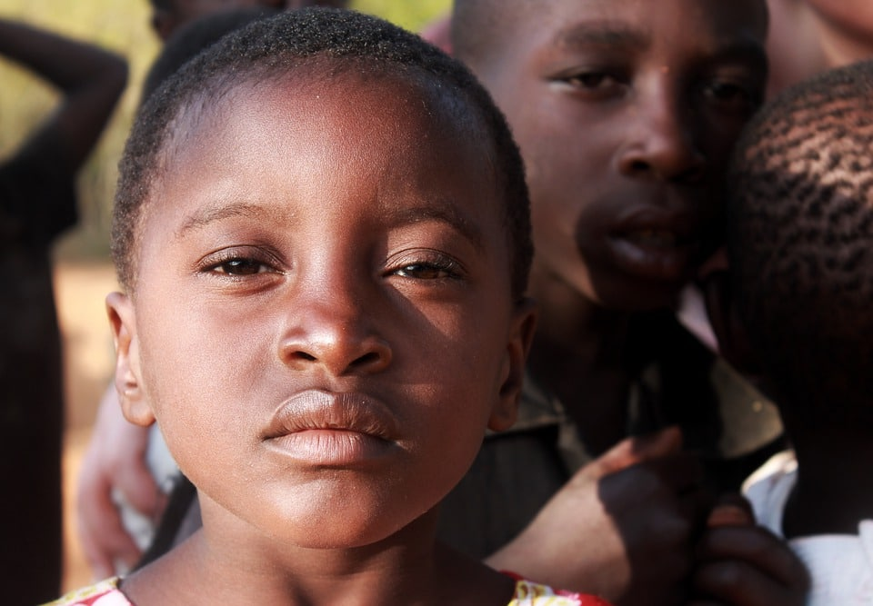 A photo of third world children. Carlin Chiropractic's Christmas donation to World Vision.